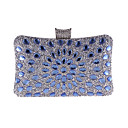 cheap Clutches & Evening Bags-Women's Bags Polyester Evening Bag Crystals Blue / Gold / Silver