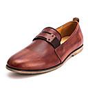 זול סניקרס לגברים-בגדי ריקוד גברים עור נאפה Leather / עור אביב / סתיו נוחות נעליים ללא שרוכים חום
