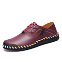 cheap Men's Oxfords-Men's Driving Shoes Nappa Leather / Cowhide Spring / Fall Comfort Sneakers Walking Shoes Black / Brown / Wine