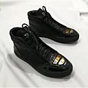 זול מגפיים לגברים-בגדי ריקוד גברים PU סתיו / חורף נוחות נעלי ספורט זהב / שחור