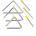 cheap Percussion Instruments-Educational Toy Stress Relievers For Children Simple Triangle Iron