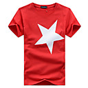 cheap Hair Braids-Men's T-shirt - Geometric Print Round Neck / Short Sleeve