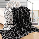 cheap Quilts & Coverlets-Knitted, Reactive Print Geometric Cotton Blankets
