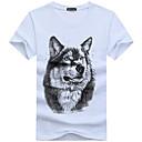 baratos Objetos de decoração-Homens Tamanhos Grandes Camiseta Algodão Decote Redondo / Manga Curta