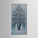 זול ציורי שמן-ציור שמן צבוע-Hang מצויר ביד - טבע דומם מודרני כלול מסגרת פנימית / בד מתוח