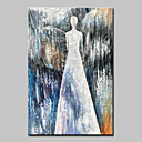 cheap People Paintings-Oil Painting Hand Painted - Abstract People Modern Canvas