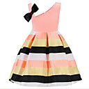 cheap Girls' Dresses-Girl's Daily Print Dress, Cotton Polyester Summer Sleeveless Basic Blushing Pink Yellow Light Green