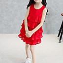 tanie Sukienki dla dziewczynek-Brzdąc Dla dziewczynek Wyjściowe Jendolity kolor Warstwy materiały Bez rękawów Sukienka / Bawełna / Urocza