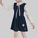 זול שמלות לבנות-שמלה שרוולים קצרים / שרוול ארוך קפלים / טלאים טלאים יום יומי בנות ילדים / חמוד