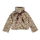 tanie Zestawy ubrań dla dziewczynek-Brzdąc Dla dziewczynek Codzienny / Święto Panterka Długi rękaw Regularny Bawełna Kurtka / płaszcz Brązowy 100 / Śłodkie