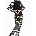 זול חולצות לבנות-יוניסקס יומי אחיד סט של בגדים, פוליאסטר אביב שרוול ארוך חמוד ירוק צבא