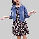 זול סטים של ביגוד לבנות-סט של בגדים חוטי זהורית אביב סתיו שרוול ארוך יומי ליציאה פרחוני בנות יום יומי סגנון רחוב פול