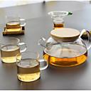 hesapli Güvenlik Aksesuarları-cam Isıya dayanıklı 5 parça Çay Süzgeci