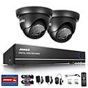 abordables Cámaras CCTV-Sistema de vigilancia sannce® 4ch 720p dvr con 4hd 1280 * 720tvl cámaras de seguridad para exteriores