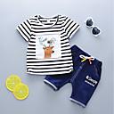cheap Boys' Clothing Sets-Boys' Striped Short Sleeves Clothing Set