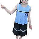 ieftine Rochii Fete-Copii Fete Geometric Imprimeu Fără manșon Set Îmbrăcăminte / Draguț