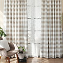 cheap Sheer Curtains-Curtains Drapes Living Room Contemporary Cotton / Polyester Printed