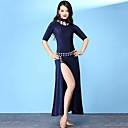 זול אביזרי ריקוד-ריקוד בטן שמלות בגדי ריקוד נשים הדרכה ניילון שסע חצי שרוול גבוה שמלה