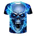 preiswerte Auto Scheinwerfer-Herrn Totenkopf Motiv - Grundlegend T-shirt, Rundhalsausschnitt Druck / Kurzarm
