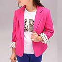 cheap Girls' Jackets & Coats-Girls' Daily Polka Dot Suit & Blazer Spring Fall Long Sleeves Dresswear Yellow Fuchsia