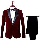 cheap Men's Slip-ons & Loafers-Men's Party Business Formal Slim Suits-Color Block Notch Lapel / Long Sleeve / Work