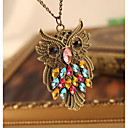 cheap Necklaces-Pendant Necklace - Owl Sweet, Fashion Rainbow 46 cm Necklace Jewelry For Party / Evening, Daily