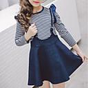 tanie Zestawy ubrań dla dziewczynek-Brzdąc Dla dziewczynek Prosty Prążki Bawełna Komplet odzieży