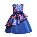 cheap Girls' Dresses-Girl's Party Going out Floral Dress, Cotton Polyester Spring Summer Sleeveless Cute Active Blue