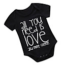 cheap Baby Boys' One-Piece-Baby Unisex Daily Holiday Print One-Pieces, Cotton Polyester Summer Cute Active Short Sleeve Black 90 100 80 70