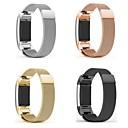 baratos Smartwatch Acessórios-Pulseiras de Relógio para Fitbit Charge 2 Fitbit Pulseira Estilo Milanês Metal / Aço Inoxidável Tira de Pulso