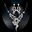tanie Zestawy biżuterii-Damskie Biżuteria Ustaw - Europejskie, Moda Zawierać Srebrny Na Ślub Codzienny