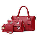 cheap Bag Sets-Women's Bags PU(Polyurethane) Bag Set 3 Pcs Purse Set Pattern / Print Black / Red / Brown