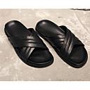 tanie Kozaki damskie-Męskie Komfortowe buty Skóra bydlęca Lato Klapki i japonki Czarny
