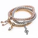 cheap Necklaces-Women's Charm Bracelet Strand Bracelet - Music Notes Sweet Bracelet Rainbow For Party Gift / 3pcs