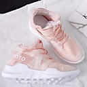 cheap Women's Athletic Shoes-Women's Shoes Tulle Spring / Summer Comfort Athletic Shoes Running Shoes Low Heel White / Black / Pink