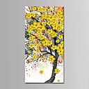 tanie Obrazy: motyw roślinny/botaniczny-Hang-Malowane obraz olejny Ręcznie malowane - Abstrakcja / Krajobraz Nowoczesny Brezentowy / Rozciągnięte płótno