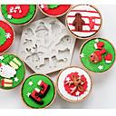 tanie Akcesoria do pieczenia-Narzędzia do pieczenia Silikonowy Motyw świąteczny / Kreskówka 3D / Kreatywne Tort / Czekolada / Do naczynia do gotowania Foremki do ciasta 1 szt.