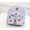cheap Backpacks-Women's Bags PU(Polyurethane) Backpack Pattern / Print White / Black / Fuchsia