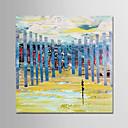 tanie Obrazy olejne-Hang-Malowane obraz olejny Ręcznie malowane - Abstrakcja Nowoczesny Brezentowy / Zwijane płótno
