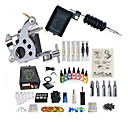 cheap Temporary Tattoos-BaseKey Tattoo Machine Starter Kit - 2 pcs Tattoo Machines with 7 x 15 ml tattoo inks, Professional Level, Professional Alloy LCD power supply Case Not Included 20 W 1 steel machine liner & shader, 1