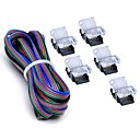 cheap Lighting Accessories-ZDM 5PCS 10mm RGB No-Waterproof 4 Pin LED Strip Connector With 22# UL Listed 3M 4 Conductor Line DIY Both Strip to Power Lead or Board to Board Jumper