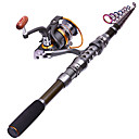 cheap Fishing Rods-Fishing Rod + Reel Telespin Rod Carbon Sea Fishing Rod & Reel Combos