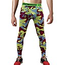 cheap Men's Sandals-Men's 1pc Running Tights - Fuchsia, Army Green, Orange+White Sports Camouflage Spandex Pants / Trousers / Tights Fitness, Gym, Workout Activewear Lightweight, Fast Dry, Anatomic Design Stretchy