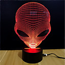 رخيصةأون إضاءة عصرية-ليلة 3D تغيير USB التوتر والقلق الإغاثة الديكور الأمان خلاق لون التغير 5V