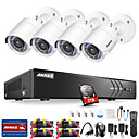 cheap DVR Kits-ANNK® E 8CH 1080P CCTV Security Cameras System with 1TB Hard Drive with 4pcs IP Cameras