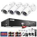 olcso DVR készlet-annk® e 8ch 1080p cctv biztonsági kamera rendszer 1 tb-os merevlemezzel 4 db ip kamerával