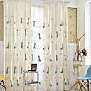 tanie Zasłony dziecięce-Zasłony zasłony Sypialnia Rysunek Bawełna / Poliester Drukowane