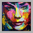 povoljno Slike ljudi-Hang oslikana uljanim bojama Ručno oslikana - Sažetak Ljudi Moderna Bez unutrašnje Frame / Valjani platno