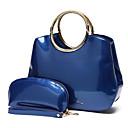 baratos Conjunto de Bolsas-Mulheres Bolsas PU Conjuntos de saco 2 Pcs Purse Set Botões Azul / Preto / Vermelho