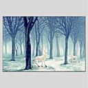 tanie Wydruki-Hang-Malowane obraz olejny Ręcznie malowane - Krajobraz Nowoczesny Brezentowy / Rozciągnięte płótno